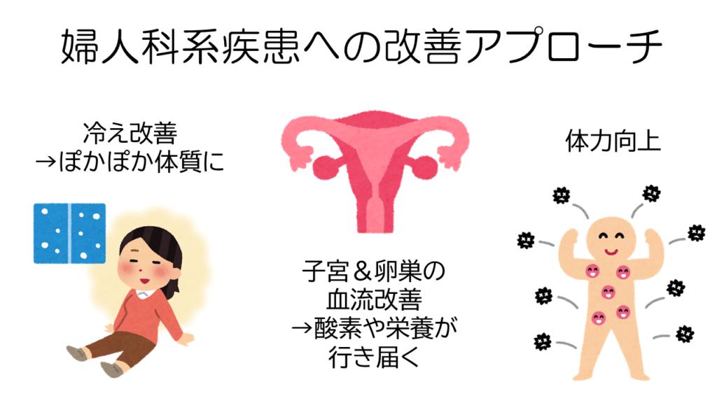 婦人科系疾患改善アプローチ